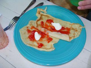 Swedish pancakes summer style