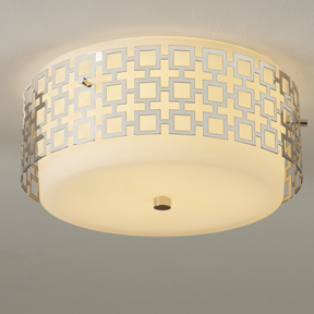 Jonathan Adler ceiling light in silver