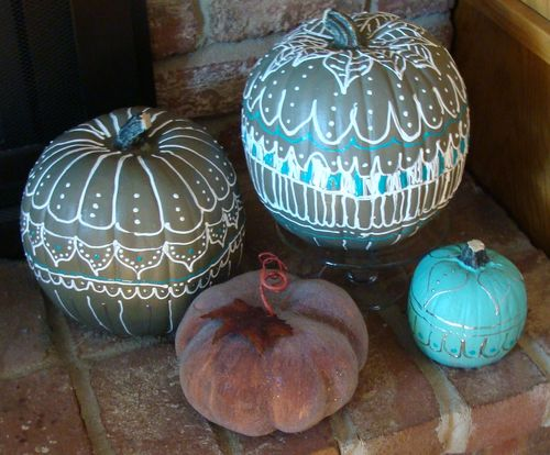 Painted pumpkins 6